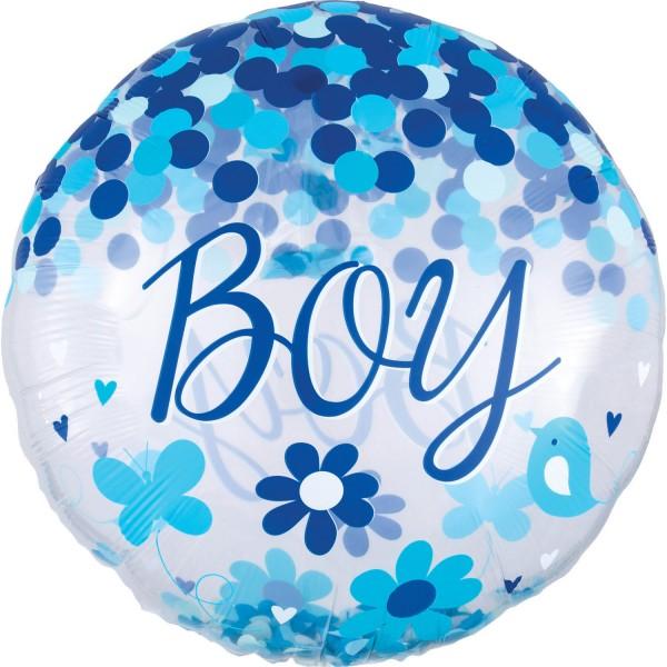 "Anagram Folienballon Rund ""Baby Boy"" 70cm/27"""