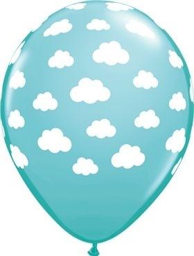 "Qualatex Latexballon Clouds Caribbean Blue 28cm/11"" 25 Stück"