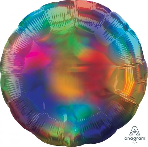 """Anagram Folienballon Rund Iridescent Regenbogen (Rainbow) 45cm/18"""""""