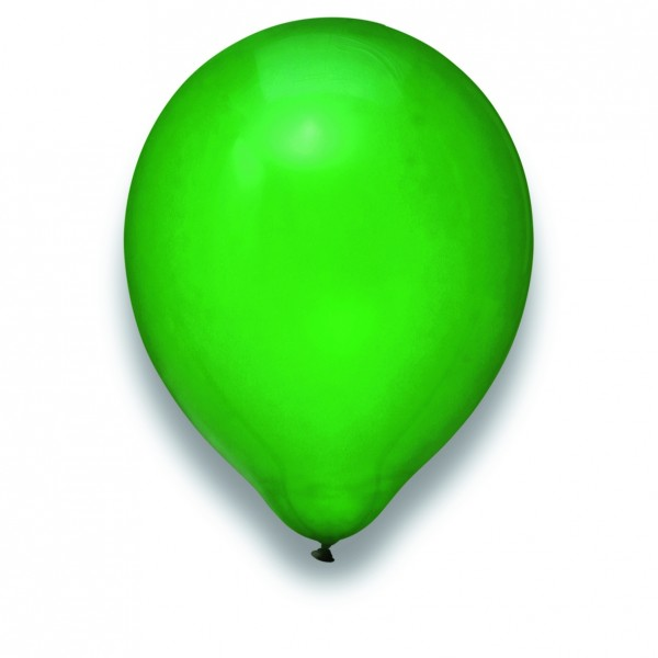 "Globos Luftballons Kristall Grün Naturlatex 30cm/12"" 100er Packung"