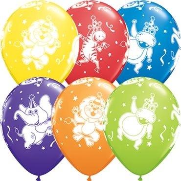 "Qualatex Latexballon Party Animals Carnival Assortment 28cm/11"" 25 Stück"