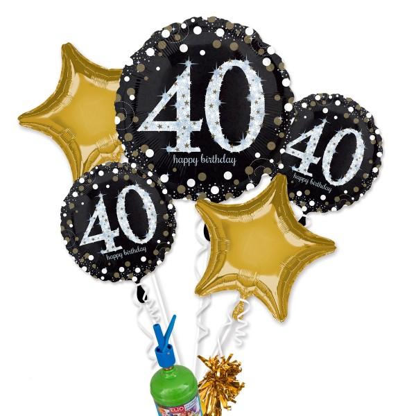 "Folienballon Helium Set ""40. Geburtstag"""