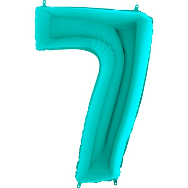 "Grabo Folienballon Zahl 7 Tiffany 100cm/40"""