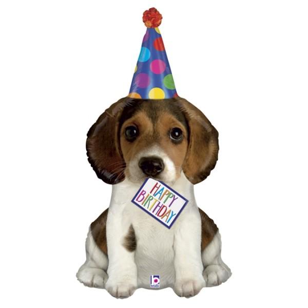 "Betallic Folienballon Birthday Puppy 105cm/41"""
