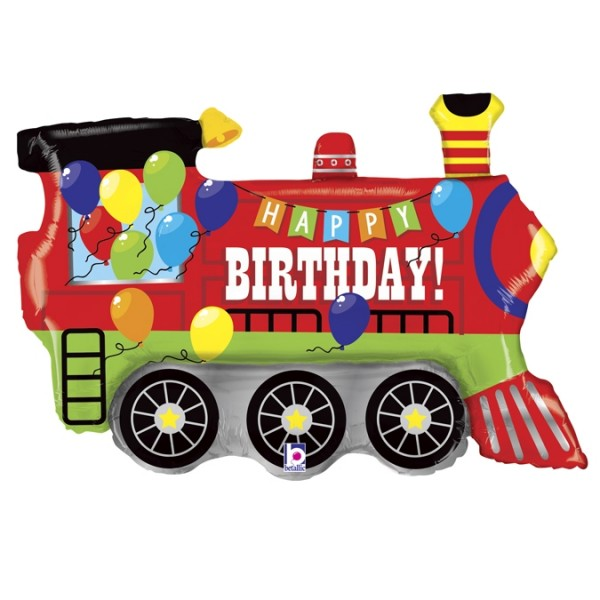 "Betallic Folienballon Birthday Party Train 91cm/36"""