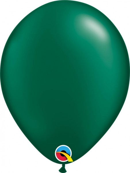 "Qualatex Latexballon Radiant Pearl Forest Green 28cm/11"" 100 Stück"