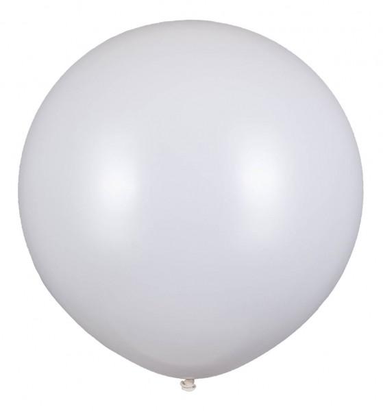 Riesenluftballon, Weiß, 80cm Ø